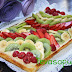 Hojaldre de crema con frutas