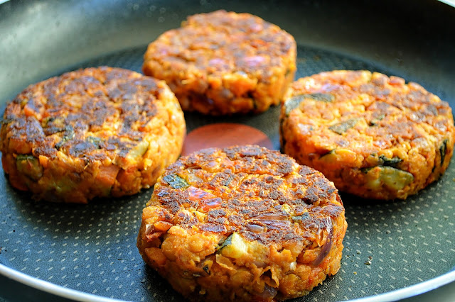 Cooked Morrocan Vegetable and Chickpea Burgers