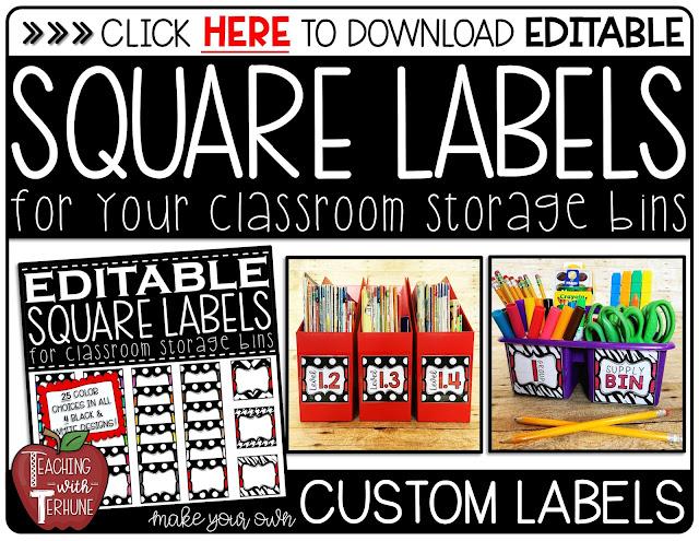 Editable Square Labels