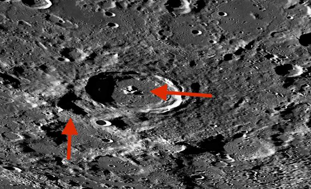 Extrañas formas en el lado oscuro de la luna, mapa lunar LROC, fotos 5