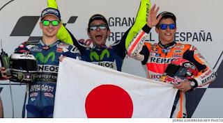 Bendera Jepang Berkibar di Podium GP Jerez Spanyol 2016