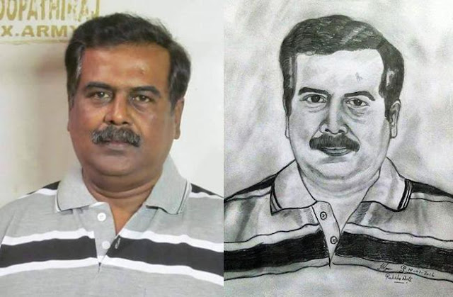 PENCIL DRAWING -  L. Boopathiraj Karaikudi