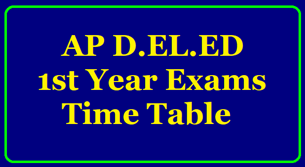 AP D.EL.ED 2018-20 BATCH 1ST YEAR EXAMS TIMETABLE @bseap It is hearby informed that the time table for Conduct of D.EL.ED.,1st year Examinations of 2018-20 batch and also for failed students of previous batches of D.EL.ED.,1st year candidates only/2020/05/ap-d-el-ed-2018-20-batch-1st-year-exams-time-table-download.html