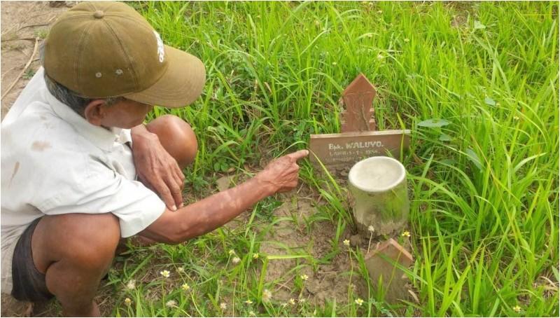 Makam atas nama Waluyo di Bantul