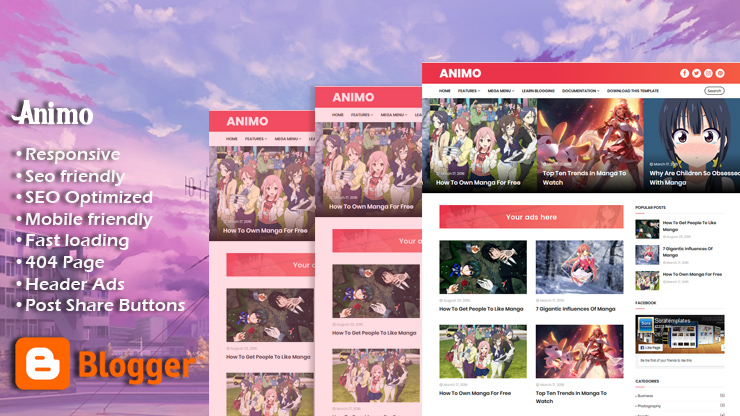 Animo Responsive Blogger Template