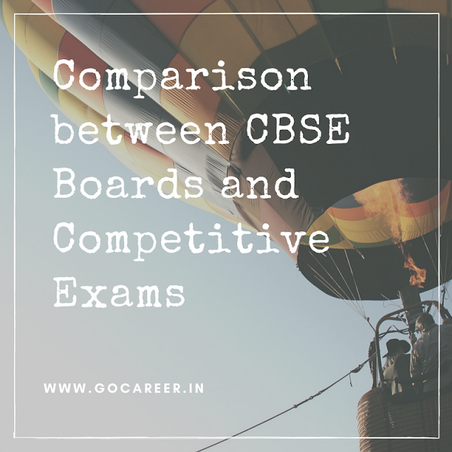 Comparsion between CBSE Boards and Competitive Exams