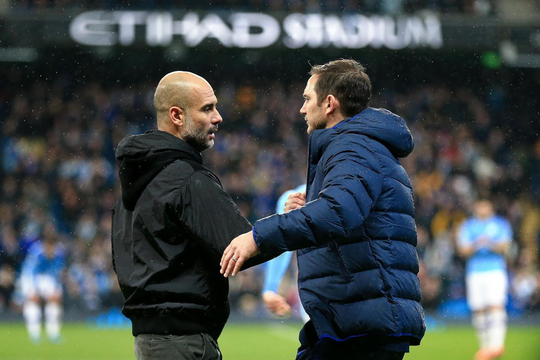 Frank Lampard and Pep Guardiola will lock horns this Saturday