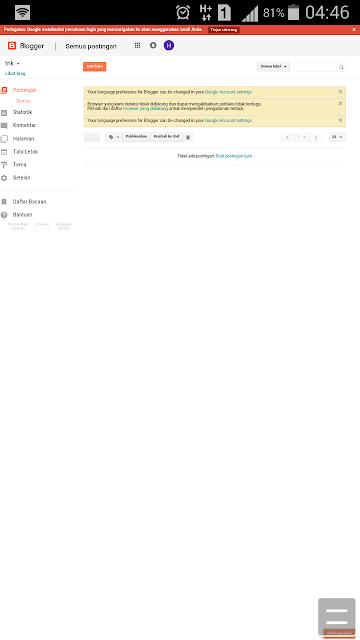 Cara Mudah Membuat Blog Gratis Di Hp Android