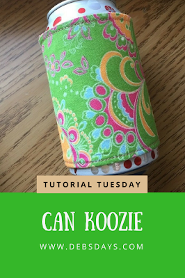 Homemade Fabric Can Koozie Sewing Project