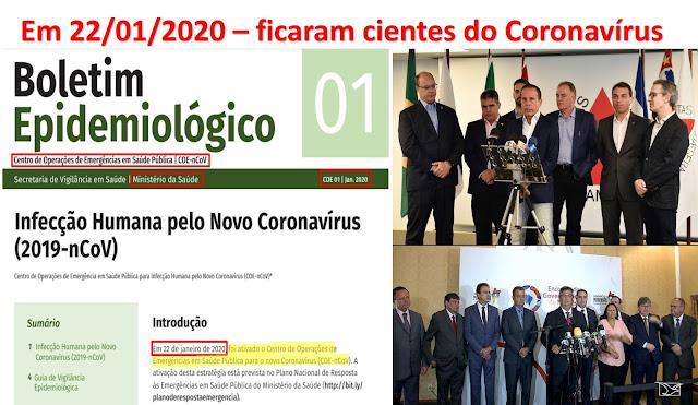 EXCLUSIVO!! - BOMBA!! A prova - os governadores e a Globo eram cientes da contaminação do Corona Vírus no Brasil antes do Carnaval 2020