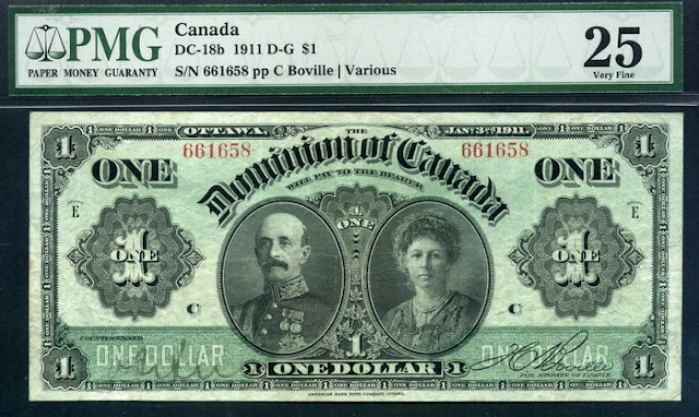 Dominion of Canada notes Dollar bill banknote