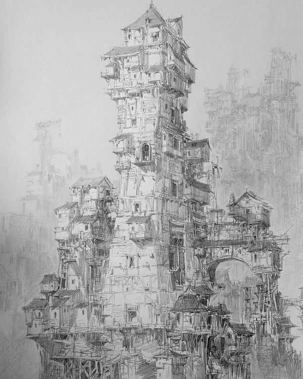 04-PaperBlue-Large-Ghostly-Detailed-Fantasy-City-Expanse-www-designstack-co