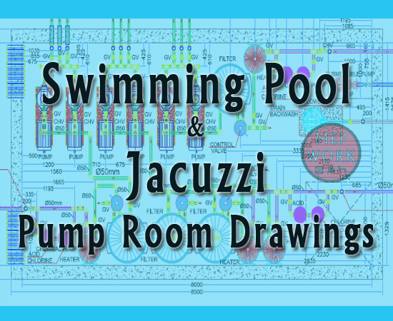 Download Swimming Pool and Jacuzzi Pump Room Drawings - PDF File Can Be Converted to AutoCAD DWG