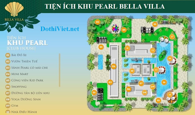 Tien ich du an khu do thi Bella Villa