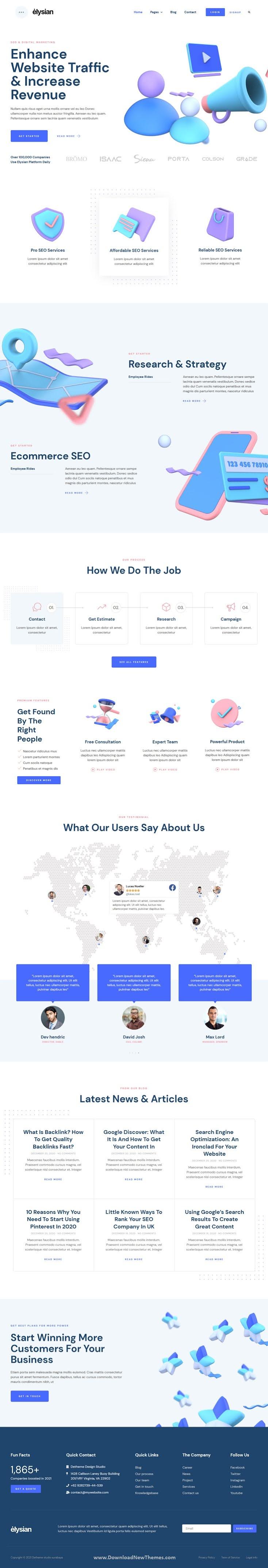 3D Style SEO Agency Elementor Kit
