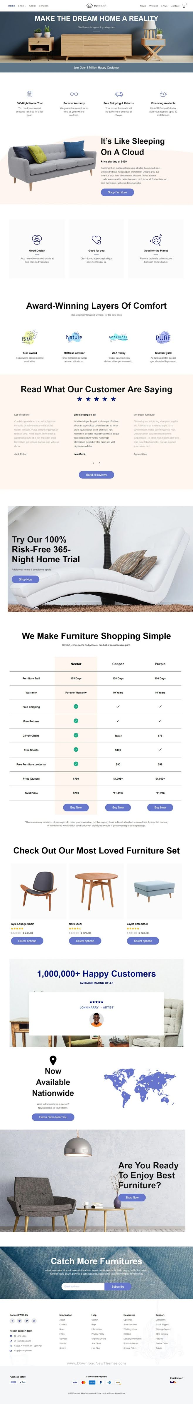 Minimal & Clean Furniture Store Shopify Theme