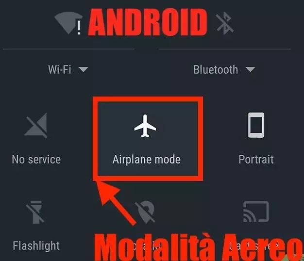 icona modalità aereo android