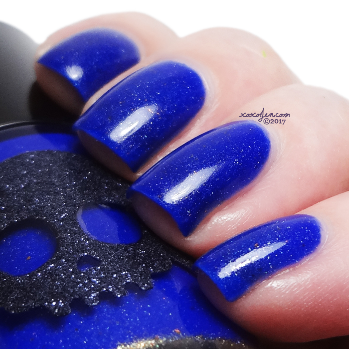 xoxoJen's swatch of Necessary Evil Midnight Constellation