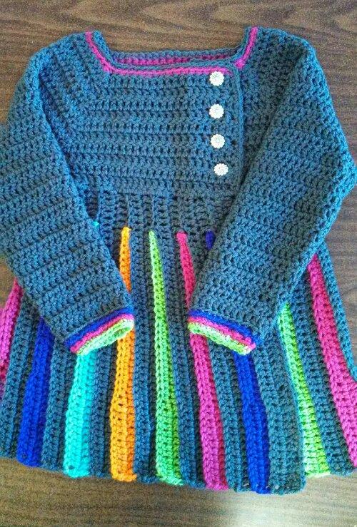 Crochet Dress Pattern For Birthday Girl - Step By step Free