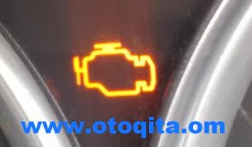 Gambar Lampu Indikator check Engine Mobil Nyala