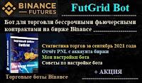 FutGrid Bot для фьючерсов Binance - статистика торгов за Сентябрь 2021 г + PNL + АКЦИЯ + настройки