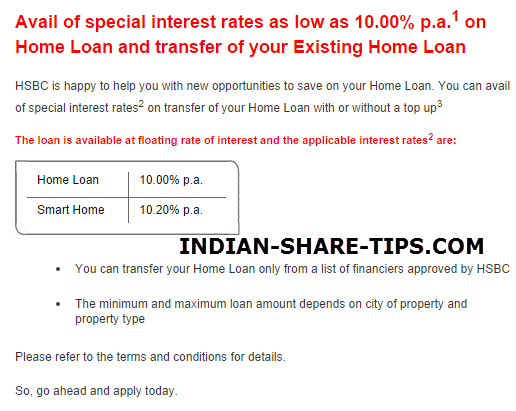 existing home loan interest