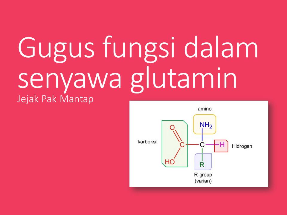 Gugus fungsi dalam senyawa glutamin