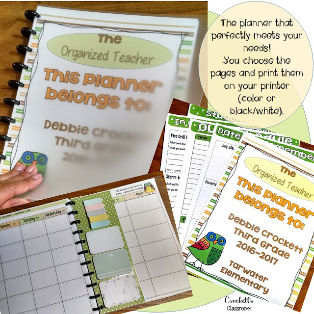 This could possibly be the best teacher planner ever!  You choose the pages you need.  Perfect for organizing your plans, progress monitoring, grades, and everything else for your classroom!