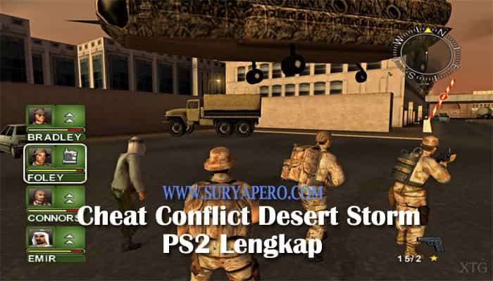 cheat conflict desert storm ps2