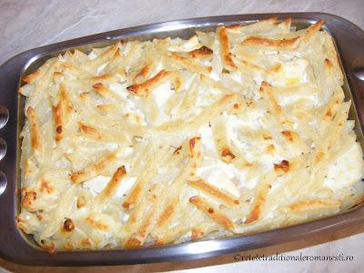 Macaroane cu branza la cuptor retete traditionale romanesti,