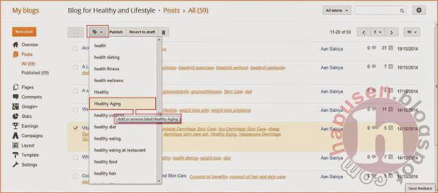 Cara menghapus label post yang sudah di publish (Blogspot),edit label,hapus label,