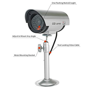 Armo Home Security Decoy CCTV Cam with LED Lights