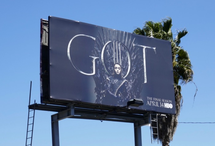 Game of Thrones season 8 Arya billboard