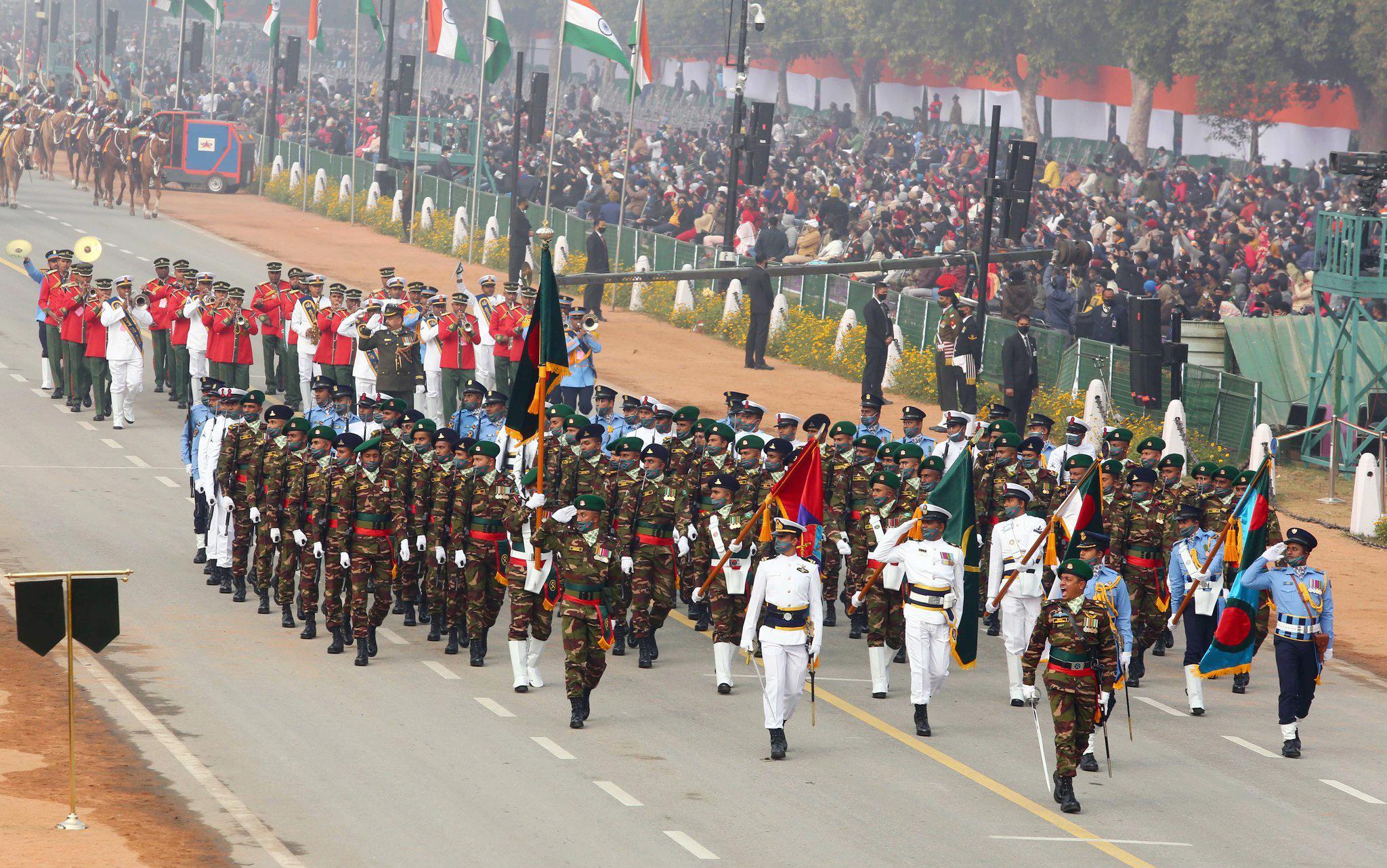 ভারতের প্রজাতন্ত্র দিবসে বাংলাদেশের সশস্ত্র বাহিনী