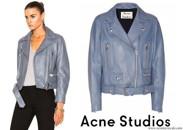 Princess Sofia wore Acne Studios Mock Leather Moto Jacket