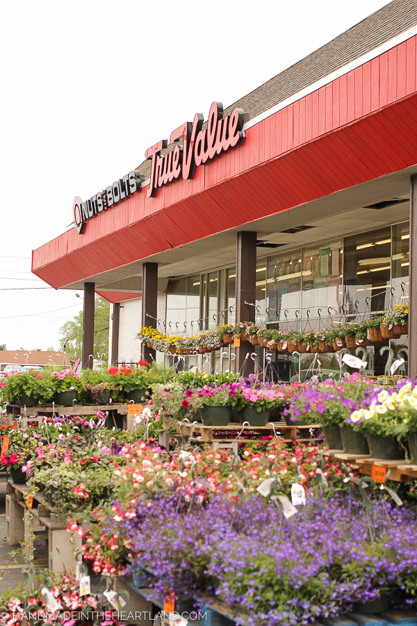 buying flowers at True Value