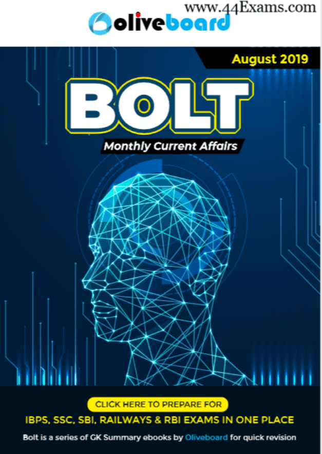 Bolt-Current-Affairs-August-2019-For-All-Competitive-Exam-PDF-Book