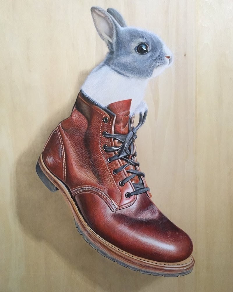 13-Wabbit-Go-Redwing-Style-Ivan-Hoo-Animals-Translated-to-Realistic-Drawings-www-designstack-co