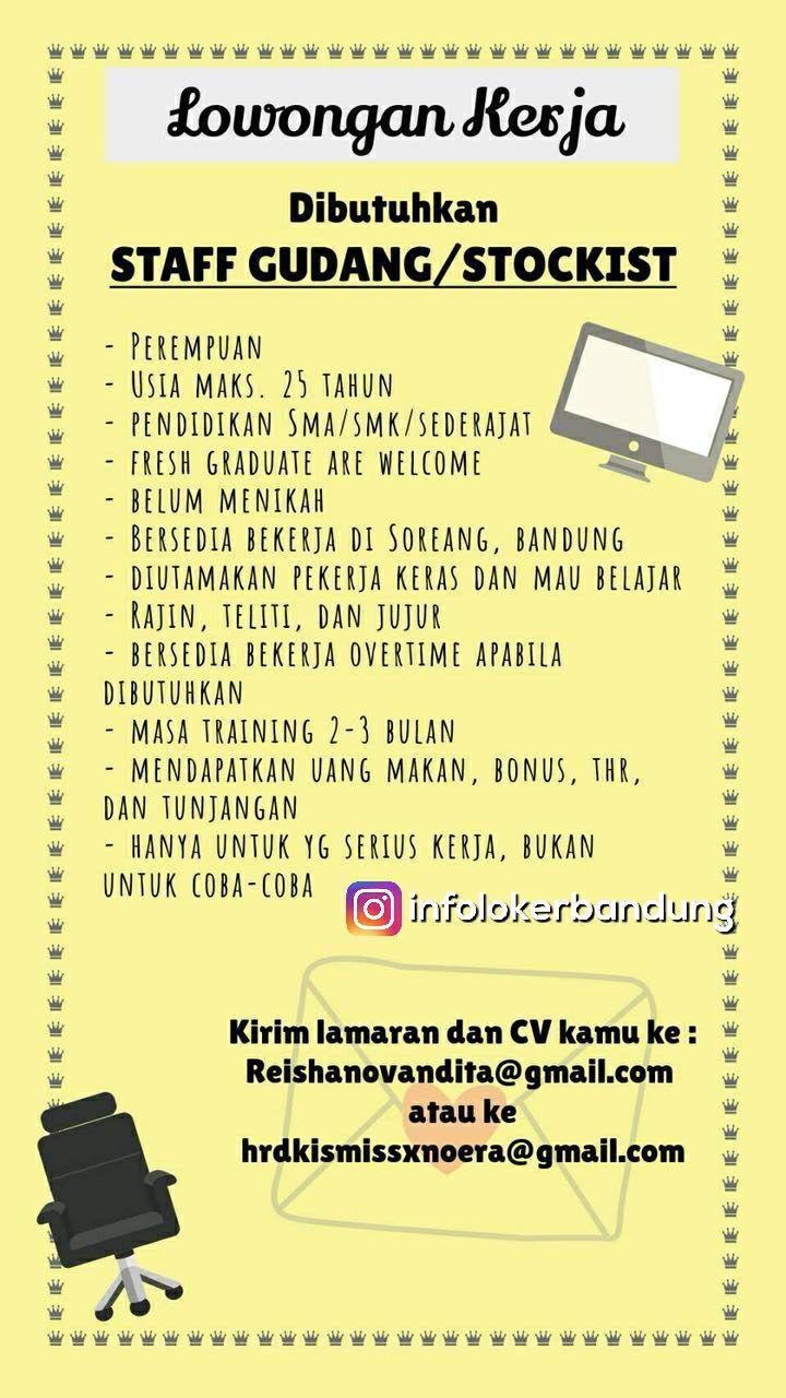 Lowongan Kerja  Staff Gudang / Stockist Bandung Januari 2018