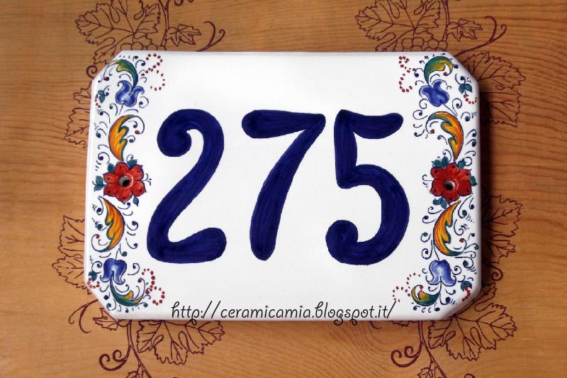 Numeri Civici In Ceramica.Ceramica Che Passione Targhe E Numeri Civici
