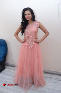 Actress Neha Hinge Stills in Pink Long Dress at Srivalli Teaser Launch  0141.JPG