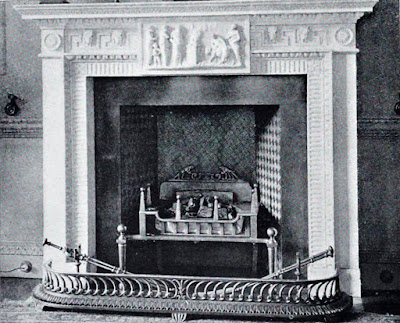 Fireplace in the Library, Hatchlands  from The architecture of Robert and James Adam by AT Bolton (1922)