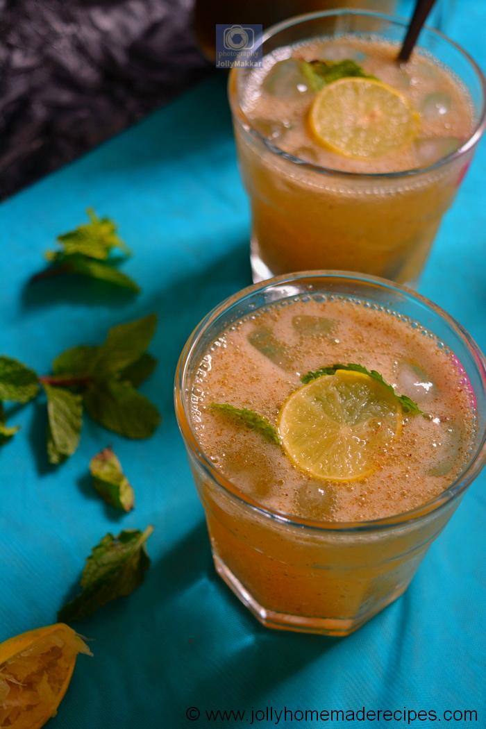 sparkling raw mango drink