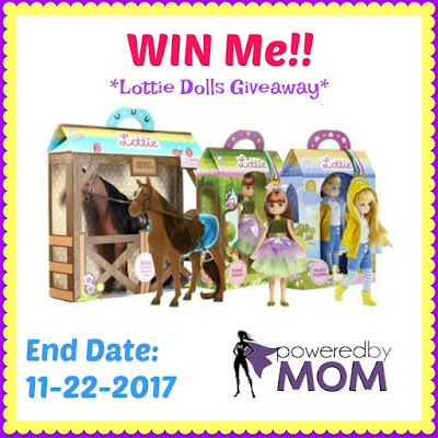 Enter the Lottie Dolls Giveaway. Ends 11/22