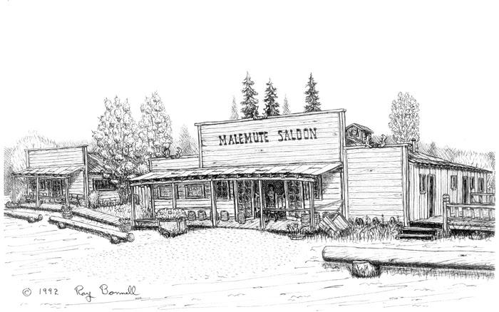 Sketches Of Alaska At The Malamute Saloon
