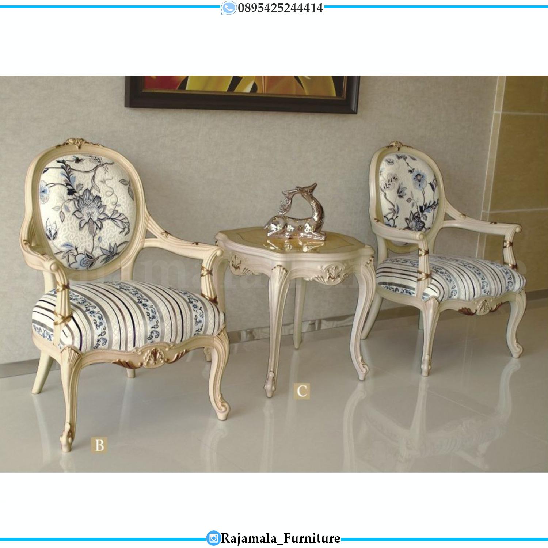 Coffee Table Set Luxury Classic, Kursi Santai Sofa Teras Mewah RM-0193