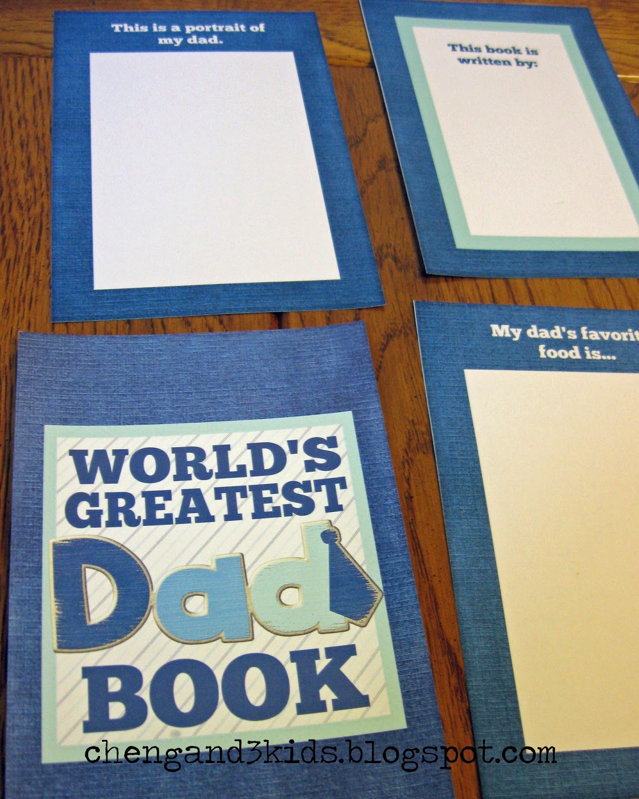 Cheng And 3 Kids Free Printable World S Greatest Dad Book