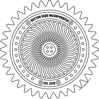 Button gear coloring page in jpg and transparent png versions #coloring #motivation