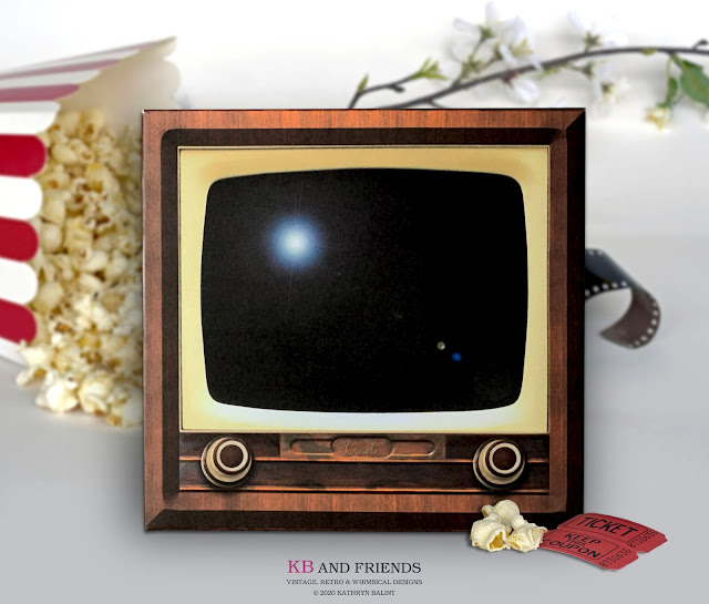KB and Friends' Printable Retro TV Box