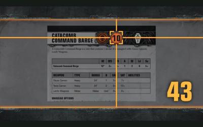 Catacomb Command Barge Necron Warhammer 40,000 Apocalypse-